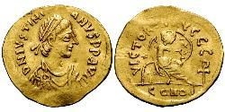 1 Semissis Byzantinisches Reich (330-1453) Gold Justinian I (482-565)