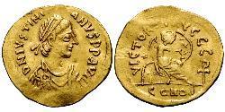 1 Semissis Imperio bizantino (330-1453) Oro Justiniano I (482-565)