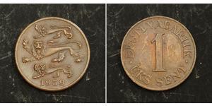 1 Sent Estonia (Republic) Bronze