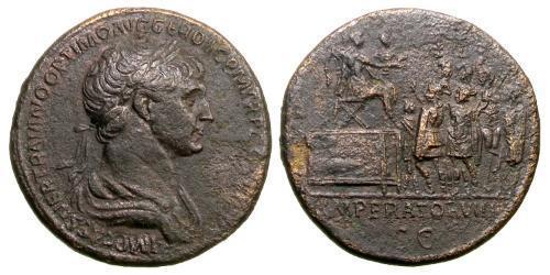 1 Sesterce Empire romain (27BC-395) Bronze Trajan (53-117)