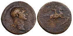 1 Sestercio Imperio romano (27BC-395) Bronce Trajano (53-117)