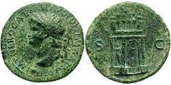1 Sestertius Roman Empire (27BC-395) Orichalcum Nero  (37- 68)