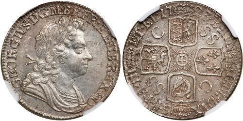 1 Shilling 大不列顛王國 (1707 - 1800) 銀 乔治一世 (大不列颠) (1660 - 1727)