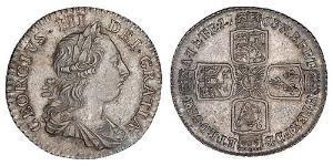 1 Shilling 大不列顛王國 (1707 - 1800) / 大英帝国 銀 喬治三世 (1738-1820)