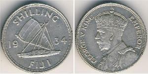 1 Shilling 大英帝国 / Fiji 銀 乔治五世  (1865-1936)