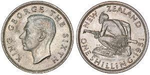 1 Shilling 新西兰 銀 乔治六世 (1895-1952)