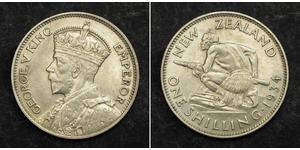 1 Shilling 新西兰 銀 乔治五世  (1865-1936)