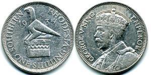 1 Shilling 羅德西亞 (1965 - 1979) 銀