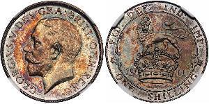 1 Shilling 英国 銀 乔治五世  (1865-1936)