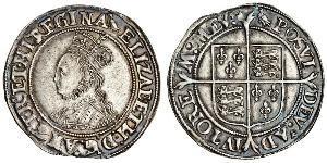 1 Shilling 英格兰王国 銀 Elizabeth I (1533-1603)