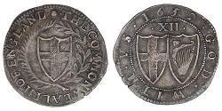 1 Shilling 英格兰联邦 銀
