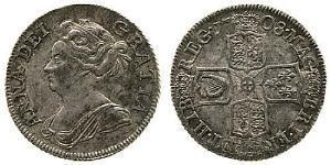 1 Shilling Royaume de Grande-Bretagne (1707-1801) Argent Anne (reine de Grande-Bretagne)(1665-1714)