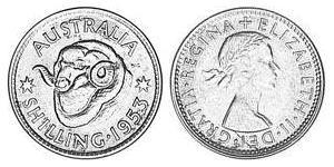 1 Shilling Australia (1939 - ) Argento Elisabetta II (1926-)