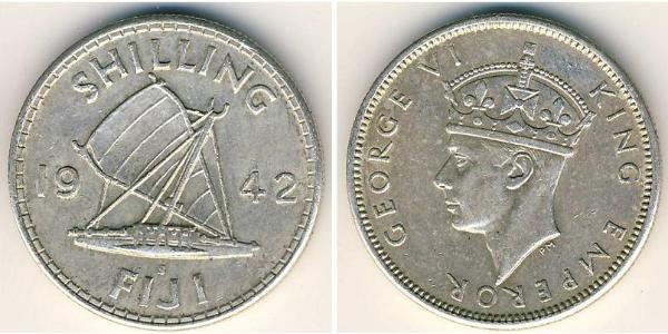 1 Shilling Figi Argento Giorgio VI (1895-1952)