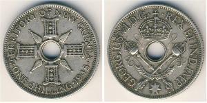 1 Shilling Nuova Guinea Argento Giorgio VI (1895-1952)