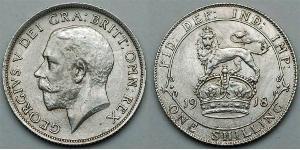 1 Shilling Regno Unito  Argento Giorgio V (1865-1936)