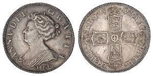 1 Shilling Regno Unito di Gran Bretagna (1707-1801) Argento Anna di Gran Bretagna(1665-1714)