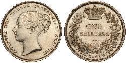 1 Shilling Regno Unito di Gran Bretagna e Irlanda (1801-1922) Argento Vittoria (1819 - 1901)