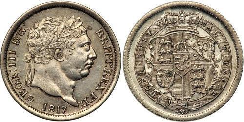 1 Shilling Regno Unito di Gran Bretagna e Irlanda (1801-1922) Argento Giorgio III (1738-1820)