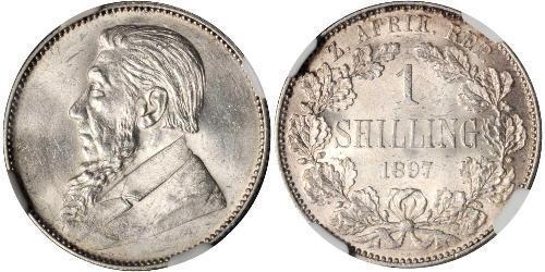 1 Shilling Sudafrica Argento Paul Kruger (1825 - 1904)