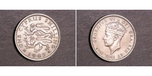 1 Shilling British Cyprus (1914–1960) Copper/Nickel George VI (1895-1952)