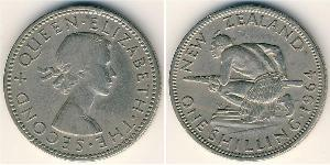 1 Shilling New Zealand Copper/Nickel Elizabeth II (1926-)