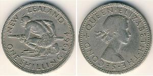 1 Shilling New Zealand Copper/Nickel Elizabeth II (1926-)