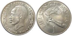 1 Shilling Tanzania Copper/Nickel