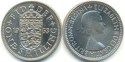 1 Shilling United Kingdom (1922-) Copper/Nickel Elizabeth II (1926-)