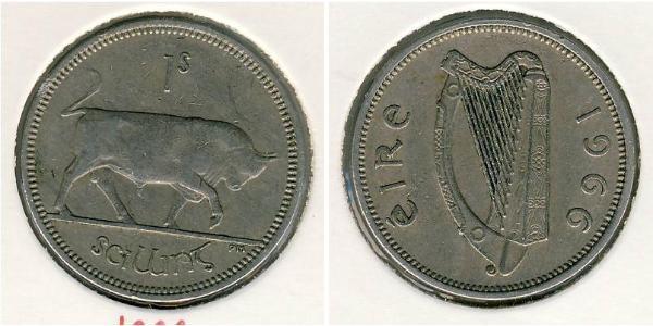 1 Shilling Irlande (1922 - ) Cuivre/Nickel
