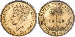 1 Shilling África Occidental Británica (1780 - 1960) Latón Jorge VI (1895-1952)