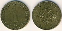 1 Shilling Republik Österreich (1955 - ) Messing