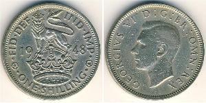 1 Shilling Reino Unido (1922-) Níquel/Cobre Jorge VI (1895-1952)