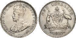 1 Shilling Australia (1788 - 1939) Plata Jorge V (1865-1936)