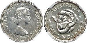 1 Shilling Australia (1939 - ) Plata Isabel II (1926-)