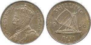 1 Shilling Imperio británico (1497 - 1949) / Fiyi Plata Jorge V (1865-1936)