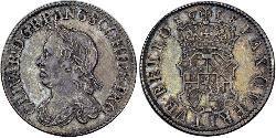 1 Shilling Mancomunidad de Inglaterra (1649-1660) Plata Oliver Cromwell (1599 - 1658)