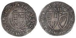 1 Shilling Mancomunidad de Inglaterra (1649-1660) Plata