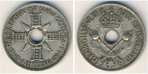 1 Shilling Nueva Guinea Plata Jorge VI (1895-1952)