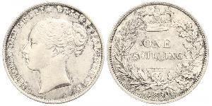 1 Shilling Reino Unido de Gran Bretaña e Irlanda (1801-1922) Plata Victoria (1819 - 1901)