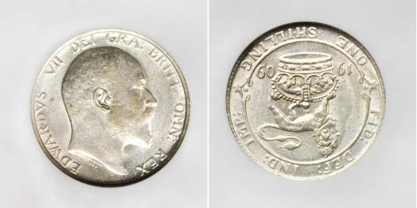 1 Shilling Reino Unido de Gran Bretaña e Irlanda (1801-1922) Plata Eduardo VII (1841-1910)