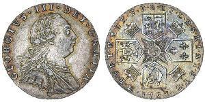 1 Shilling Reino de Gran Bretaña (1707-1801) Plata Jorge III (1738-1820)