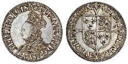 1 Shilling Reino de Inglaterra (927-1649,1660-1707) Plata Isabel I (1533-1603)