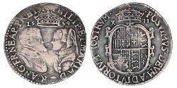 1 Shilling Reino de Inglaterra (927-1649,1660-1707) Plata María I de Inglaterra(1516-1558)