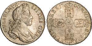 1 Shilling Reino de Inglaterra (927-1649,1660-1707) Plata Guillermo III (1650-1702)