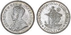 1 Shilling Sudáfrica Plata Jorge V (1865-1936)