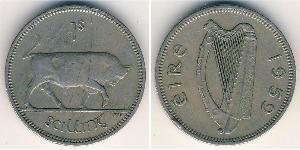 1 Shilling Irlanda (1922 - ) Rame/Nichel