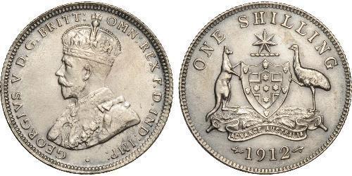 1 Shilling Australien (1788 - 1939) Silber George V (1865-1936)