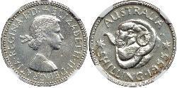 1 Shilling Australien (1939 - ) Silber Elizabeth II (1926-)