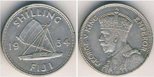 1 Shilling Britisches Weltreich (1497 - 1949) / Fidschi Silber George V (1865-1936)